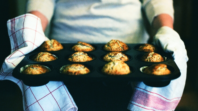 Lemon Poppy Seed Muffins Analogic Film Vintage Analog Photography Recipe Video Vimeo Canon AE-1 35mm Hipster