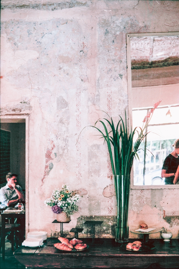 Fioraio Bianchi Milano, Florist, Milan, Italy, Coffee shop, Cafe, Vintage, Flowers, Canon, Film, 35mm