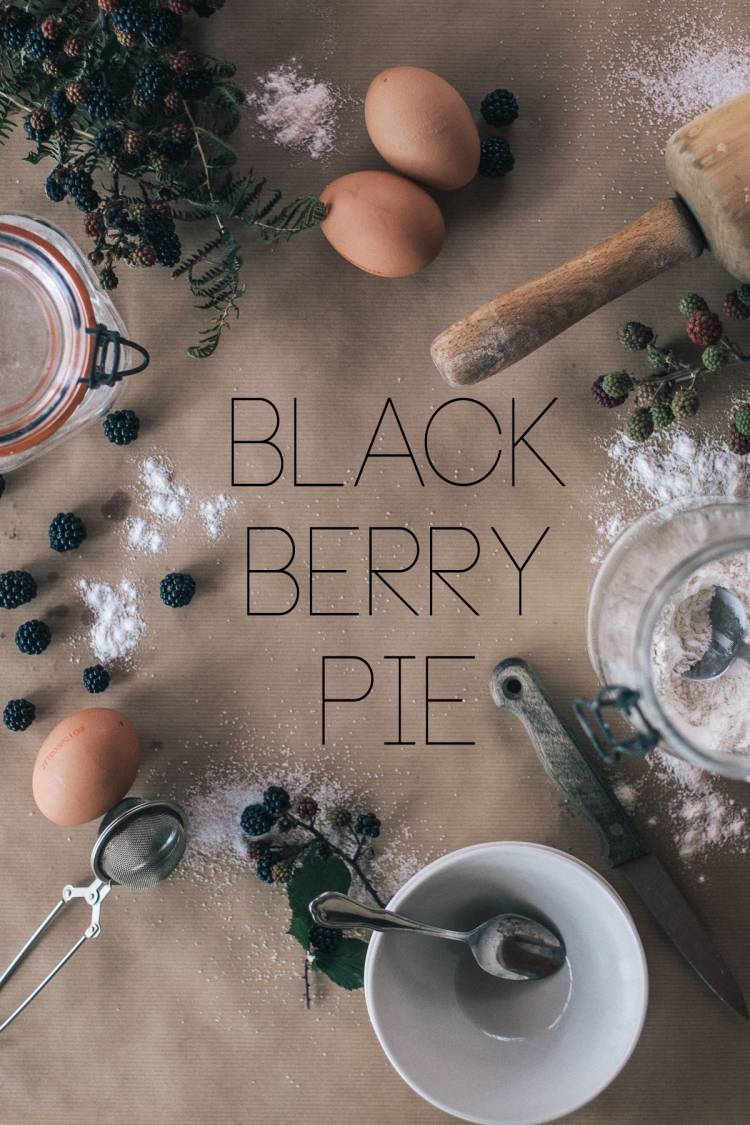 Balckberry Pie, Recipe, Photography, Cream