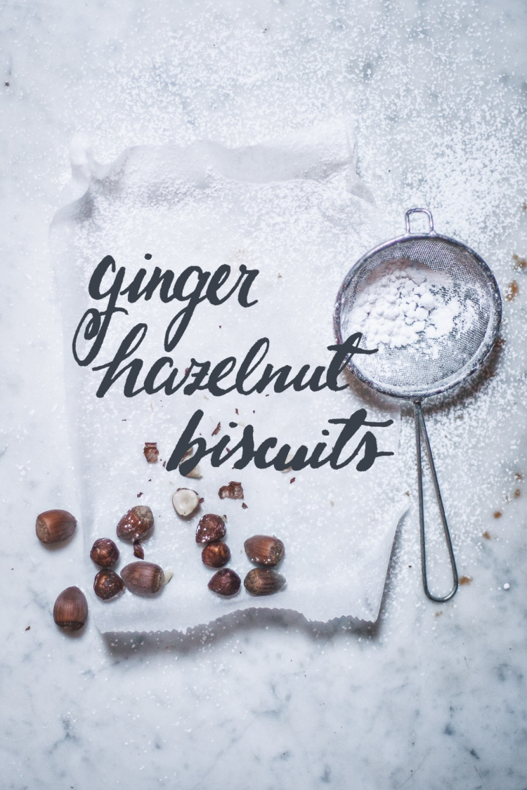 Ginger Hazelnut Biscuits, Photography, Recipe, Food, Daniel Farò, Calligraphy, Hand Lettering, Gioia De Antoniis, Paper, White, Christmas, Baking